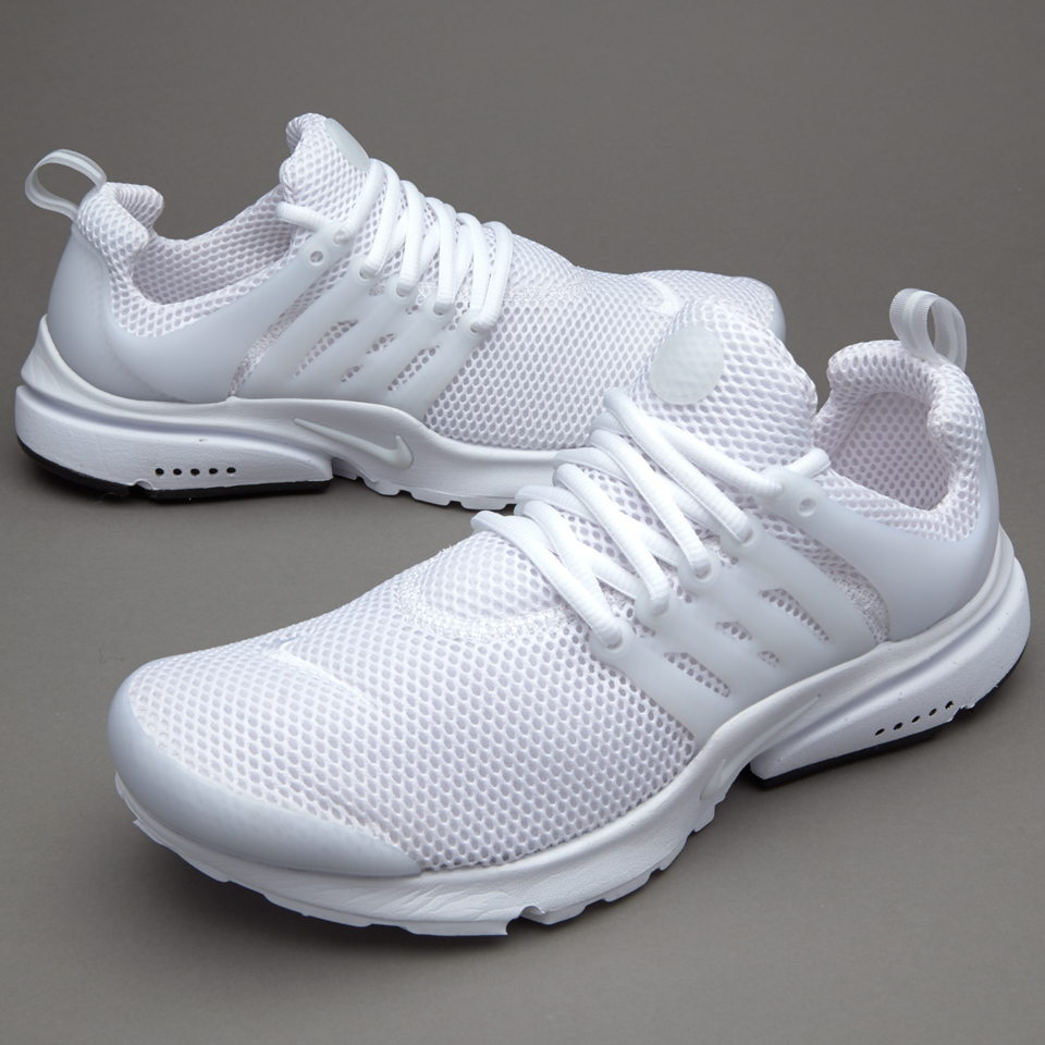 nike all white mens shoes